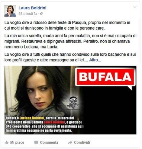 La bufera sulla sorella della Boldrini
