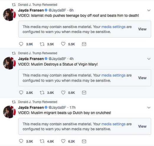 Trump e i video anti-islamici