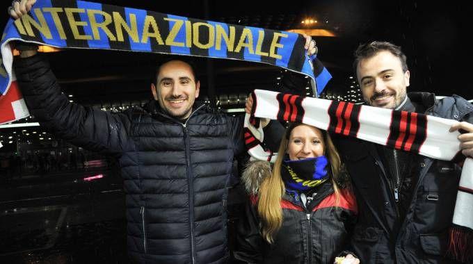 Tifosi Inter e Milan per il derby