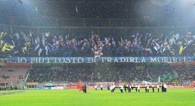 Coppa Italia, le coreografie al derby Milan-Inter