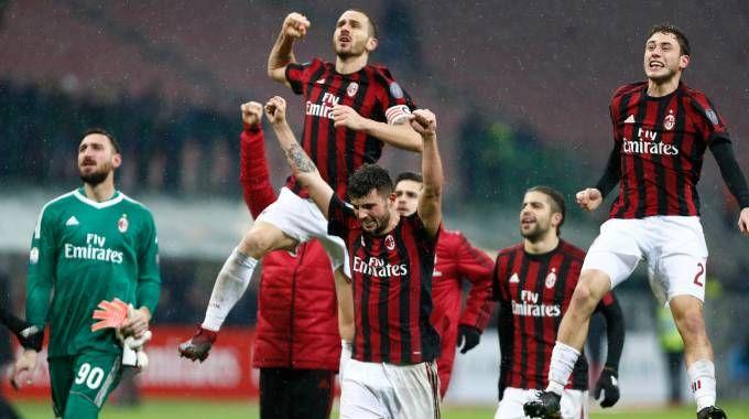 Il Milan batte l'Inter nei quarti di Coppa Italia (Lapresse)