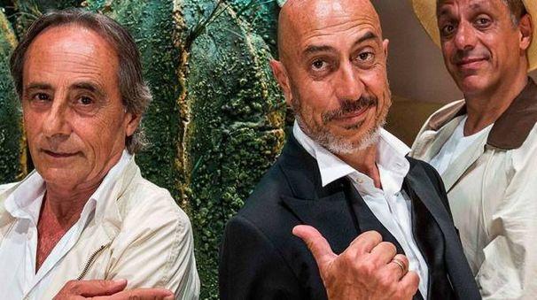 Gaspare, Roberto Ciufoli e Max Pisu in 'Sabbie Mobili'