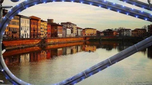 Una delle immagini che raccontano il Natale a Pisa (Luca Musacchio)
