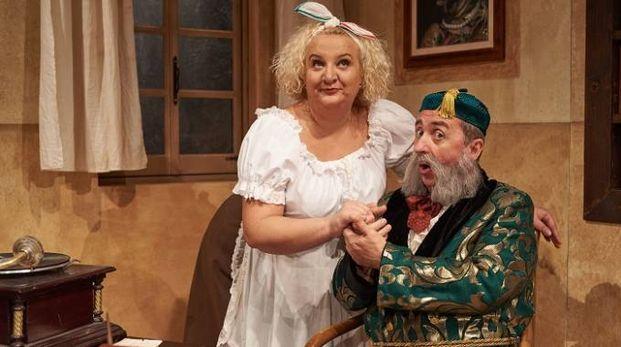 Maria Pia Timo e Vito in scena