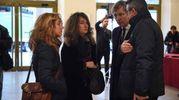 Camera ardente di Gualtiero  Marchesi al Teatro Dal Verme: le figlie Simona e Paola e il genero Enrico (foto Lapresse)