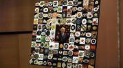 """Nel foyer del Teatro Dal Verme un """"collage"""" di piatti celebri dello chef  (foto Ansa)"""