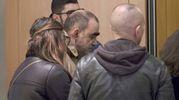 Camera ardente di Gualtiero  Marchesi al Teatro Dal Verme: il cantante Elio (foto Newpress)