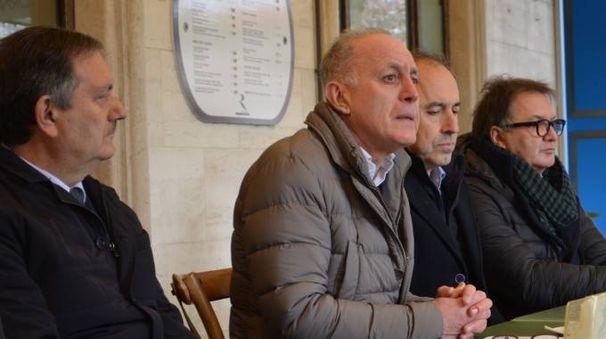 I rappresentanti delle categorie. Da sinistra: Antonio Morini, Paolo Corchia, Francesco Mattugini e Attilio Pagani