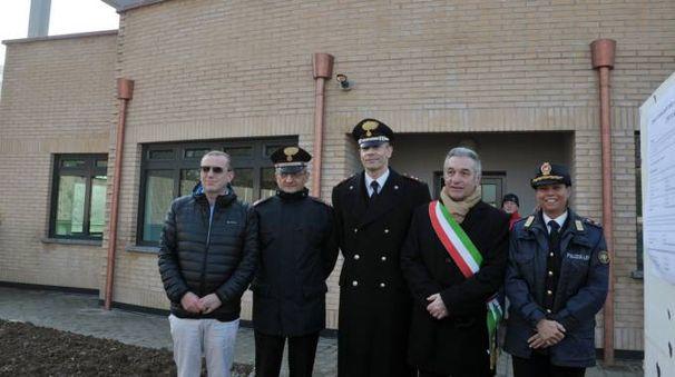 La visita del sindaco al cantiere finito in aprile