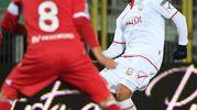 Carpi-Bari, Verna passa la palla (foto LaPresse)