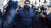 Folla e commozione ai funerali di Gualtiero Marchesi: lo chef Antonino Cannavacciuolo (foto Lapresse)