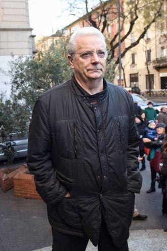 Folla e commozione ai funerali di Gualtiero Marchesi:  lo chef Iginio Massari (foto Lapresse)