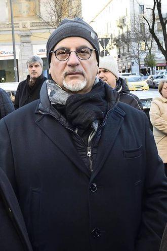 Folla e commozione ai funerali di Gualtiero Marchesi: lo chef Claudio Sadler (foto Ansa)