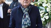 Folla e commozione ai funerali di Gualtiero Marchesi: lo chef Ezio Santin (foto Lapresse)