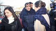 Folla e commozione ai funerali di Gualtiero Marchesi:  lo chef IDavide Oldani (foto Lapresse)
