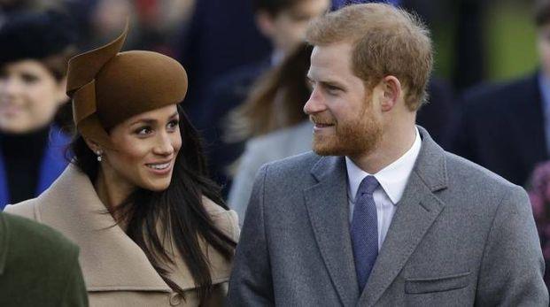 Meghan Markle col principe Harry (Ansa)