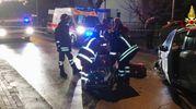 Vigili del fuoco e ambulanza sul posto