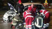 Il ferito soccorso dopo l'incidente