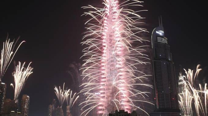 Capodanno a Dubai (Ansa)