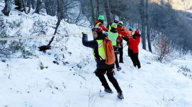 Il soccorso alpino (foto d'archivio)