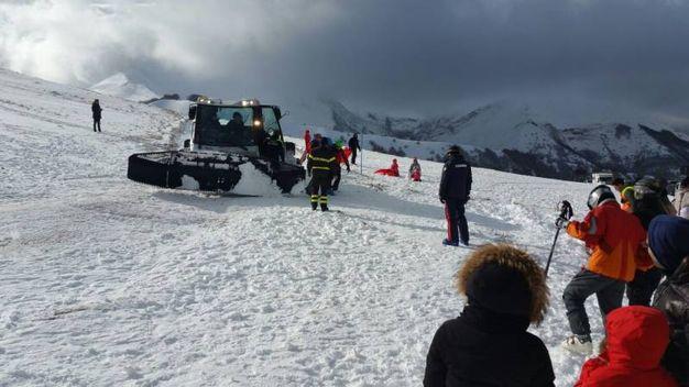 I due escursionisti sono stati salvati grazie alla velocità dei soccorsi