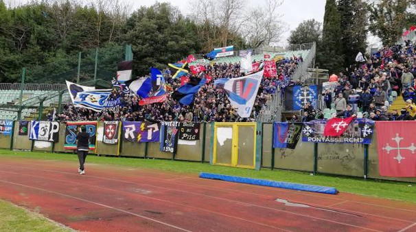 Siena-Pisa: Giovanni Corrado saluta i tifosi nerazzurri