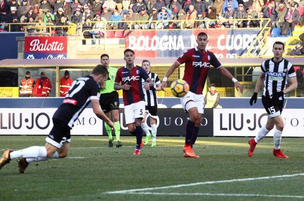 L'Udinese trova il pareggio grazie a Widmer (foto Ansa)