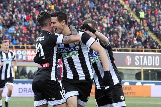 Udinese in vantaggio al 48' (foto Ansa)