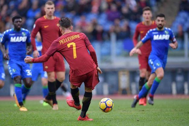 Il gol di Pellegrini (foto LaPresse)