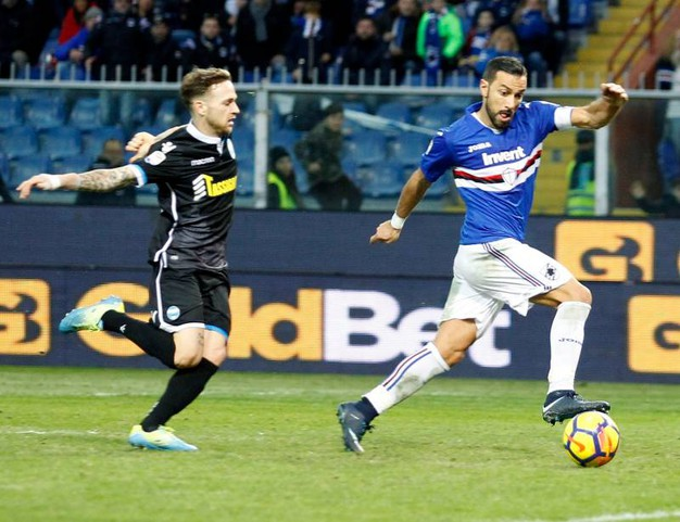 Sampdoria-Spal 2-0, Quagliarella (Lapresse)