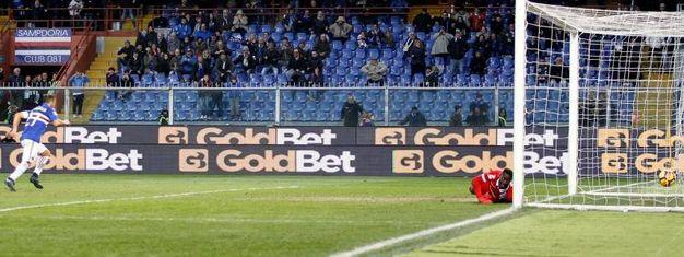 Sampdoria-Spal 1-0, Quagliarella (Lapresse)