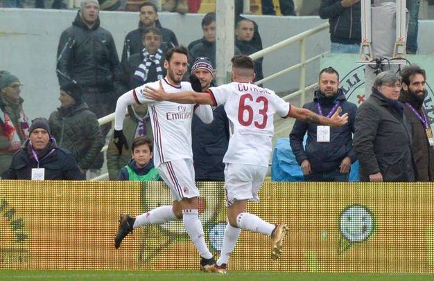 Fiorentina-Milan 1-1, Calhanoglu (Ansa)