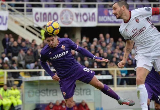 Fiorentina-Milan 1-0, Simeone (Ansa)