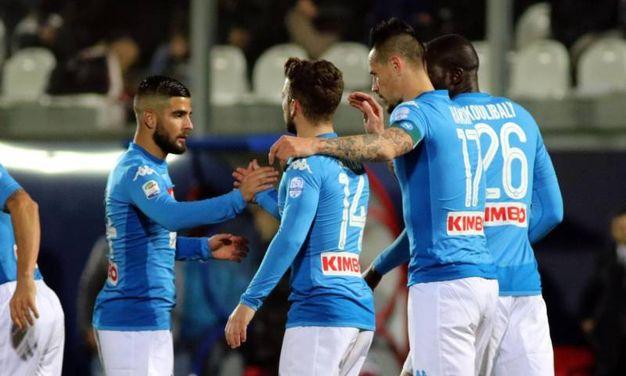 Crotone-Napoli 0-1, Hamsik (Ansa)