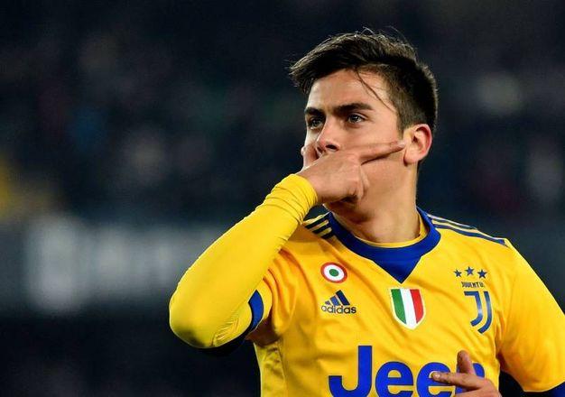 Verona-Juve 1-2, Dybala (Afp)
