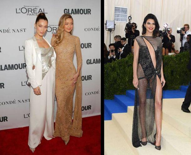Bella Hadid, Gigi Hadid, Kendal Jenner non classificate