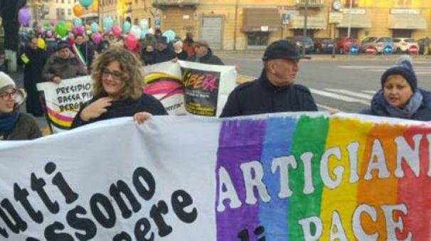 IMPEGNO Un'immagine della passata edizione della Marcia della Pace di Treviglio appuntamento che richiama ogni anno centinaia cittadini