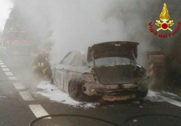 L'auto distrutta
