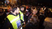 I controlli in piazzale Michelangelo (Marco Mori / New Press Photo)
