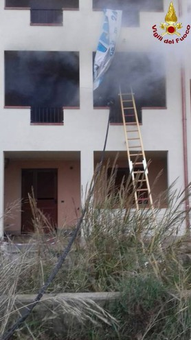 L'incendio al residence I Crespi sull'Aurelia