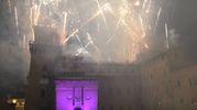 I fuochi e il Castello Estense (Foto Businesspress)