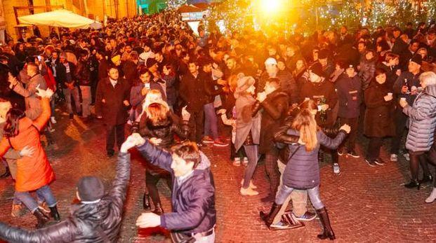 Capodanno in piazza a Fermo (Foto Zeppilli)