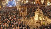 La grande festa in piazza del Popolo a Cesena (foto Ravaglia)