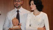 Guido De Barros e Caterina Ceccuti durante un'iniziativa per Voa Voa (New Press Photo)