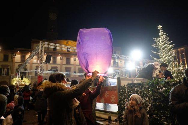 La festa di Capodanno a Forlì, nella centralissima Piazza Saffi (foto Frasca)