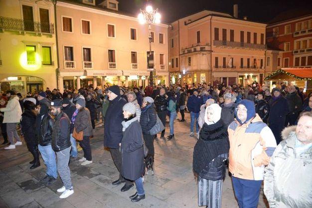 Rovigo festeggia il Capodanno nella piazza Vittorio Emanuele II (foto Donzelli)