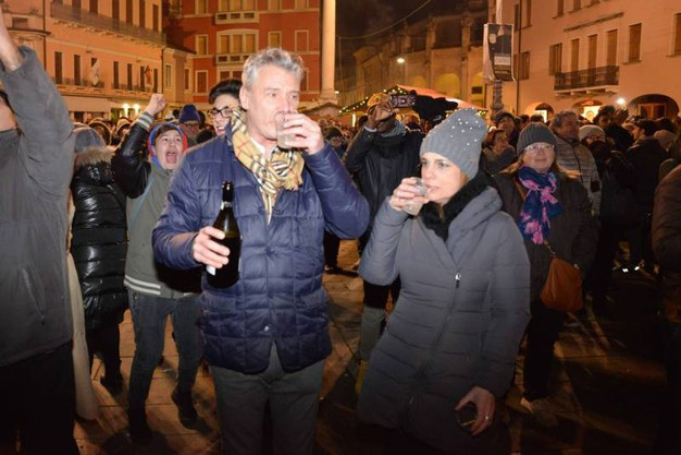 I festeggiamenti per il 2018 a Rovigo (foto Donzelli)