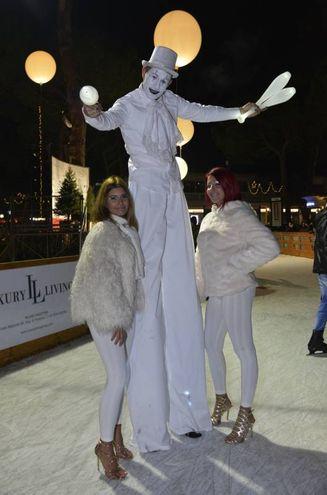 I personaggi di Mima On Ice (foto Carlo Morgagni)