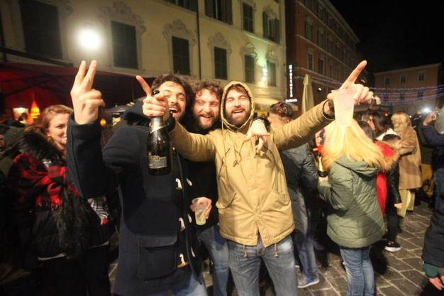 Grande festa ad Ancona per il 2018 (foto Antic)
