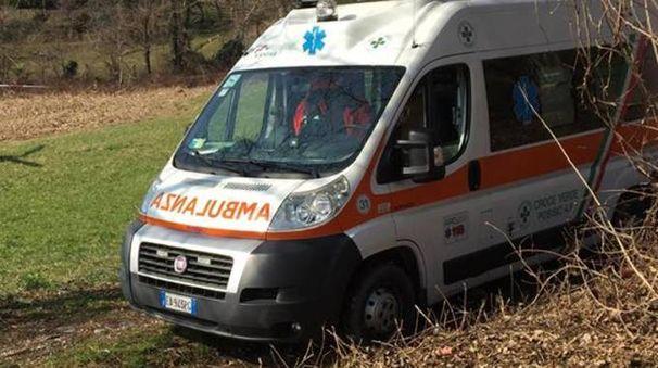 L'ambulanza della Croce verde